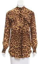 Dolce & Gabbana Silk Animal Print Tunic
