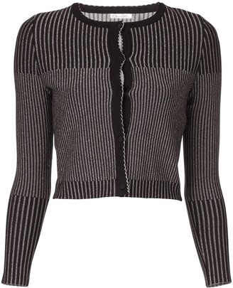 Oscar de la Renta Striped Cardigan