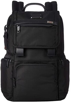 Tumi Alpha 3 Flap Backpack (Black) Backpack Bags