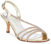 Caparros Bethany Embellished Asymmetrical Slingback Evening Sandals