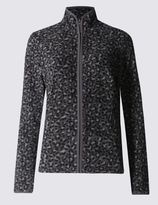 Marks and Spencer PLUS Leopard Print Fleece Jacket