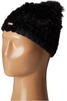 Calvin Klein Knit Fur Pompom Beanie