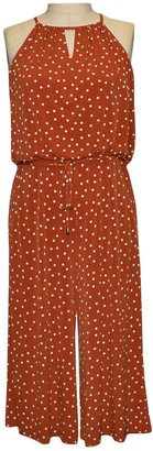 London Times Printed Polka Dot Jumpsuit