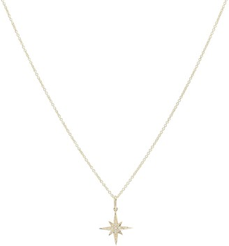 Sydney Evan Starburst Small 14kt yellow gold and diamond necklace