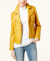 INC International Concepts Petite Faux-Leather Moto Jacket, Created for Macy's