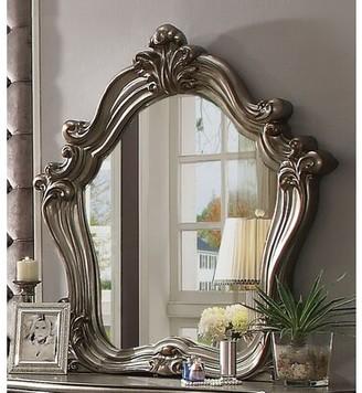Astoria Grand Tanner Solid Wood Vanity Set with Mirror Color: Antique Platinum