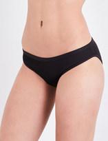 Three Graces London Ladies Aubergine Full Coverage Retro Asterea Bikini Bottoms