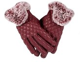 UP TOP Womens Cute Leather Gloves Winter Gloves Touch Screen Gloves for Hiking/Cycling