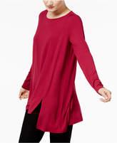 Eileen Fisher Stretch Jersey Round-Neck Tunic, Regular & Petite