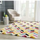 """Safavieh Kids Shag Collection SGK565A Ivory and Multi Area Rug, 5 feet 3 inches by 7 feet 6 inches (5'3"""" x 7'6"""")"""