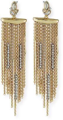 Alexis Bittar Navette Crystal Cluster Post Fringe Earrings