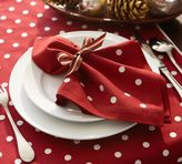 Pottery Barn Polka Dot Embroidered Napkin, Set of 4