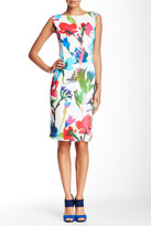 Ellen Tracy Floral Sleeveless Dress