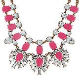 BaubleBar Crystal Feather Bib Necklace