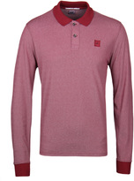 Cp Company Cranberry Marl Long Sleeved Polo Shirt