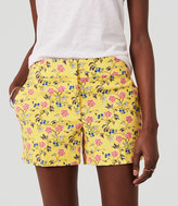 """LOFT Floral Riviera Shorts with 4"""" Inseam"""