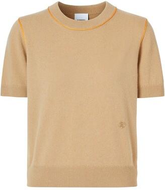Burberry contrast trim monogram motif T-shirt