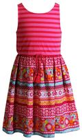 Youngland Girls 4-6x Pattern Knit & Woven Sundress