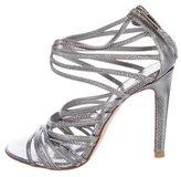 Gianvito Rossi Metallic Multistrap Sandals