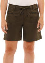 ST. JOHN'S BAY Embroidered Cargo Short 5 Classic Fit Poplin Cargo Shorts