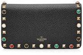 Valentino Rolling Rockstud Embellished Leather Wallet