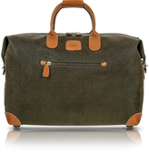 "Bric's Life - Olive Green Micro Suede 18"" Carry-on Holdall"