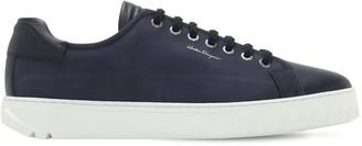 Salvatore Ferragamo Cube Suede Sneakers