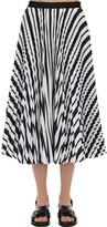 Sacai Striped Cotton Blend Skirt
