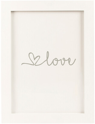 Cathy's Concepts Silver Love Heart Drop Guestbook