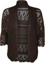 WearAll Women's Plus Size Crochet Knitted Short Sleeve Cardigan - US 14-16 (UK 18-20)