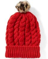 Copper Key Leopard-Pom Beanie Hat
