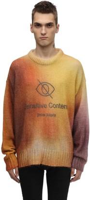 Palm Angels Tie Dye Mohair & Wool Crewneck Sweater