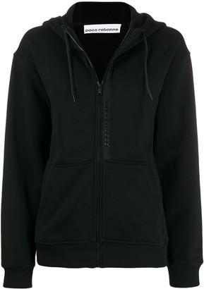 Paco Rabanne zipped drawstring hoodie