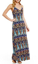 Moa Moa Printed Maxi Dress