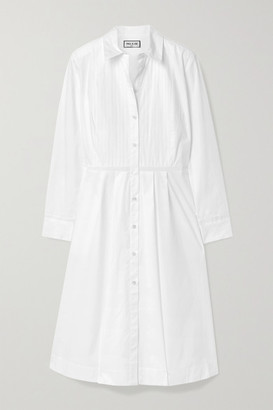 Paul & Joe Broderie Anglaise-trimmed Stretch-cotton Poplin Dress - White