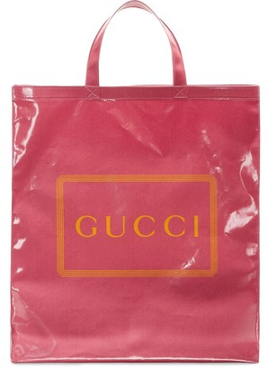 Gucci Medium Logo Print Tote