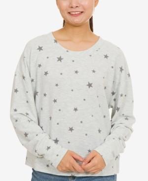 Hippie Rose Juniors' Cozy Banded-Hem Sweatshirt