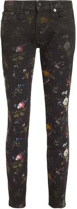 R 13 Kate Floral Skinny Jeans