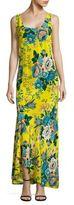 Diane von Furstenberg Floral Print Slip Silk Dress