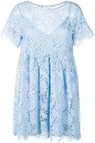 P.A.R.O.S.H. Rift lace dress - women - Cotton/Polyamide/Viscose/Polyester - XS