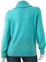 Apt. 9 cashmere cowlneck sweater - women's plus