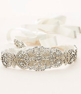 Nina Seed-Beaded Crystal & Satin Bridal Sash