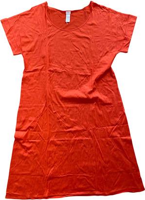 Eres Orange Cotton Dresses