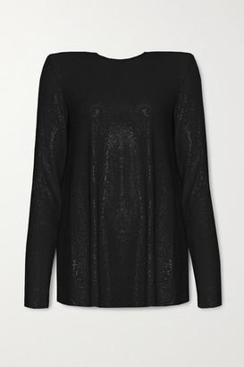 Alexandre Vauthier Crystal-embellished Stretch-jersey Top - Black