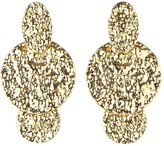 Oscar de la Renta Hammered Disc Drop Earrings