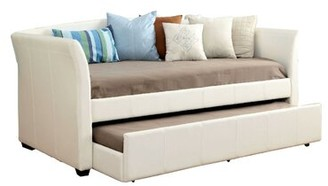 Red Barrel Studioâ® Addario Twin Daybed with Trundle Red Barrel StudioA Color: White