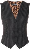 Dolce & Gabbana pinstriped waistcoat - women - Polyester/Spandex/Elastane/Wool - 42