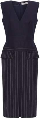 Alexander McQueen Wool Pinstripe Pencil Dress