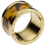 Michael Kors Tortoise-Design Barrel Ring
