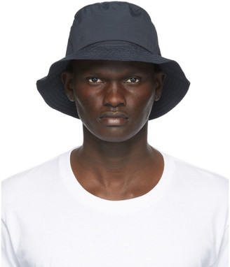 Norse Projects Navy Nylon Bucket Hat